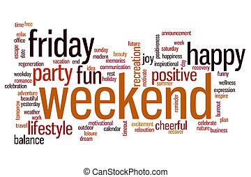 Weekend word cloud - Weekend concept word cloud background