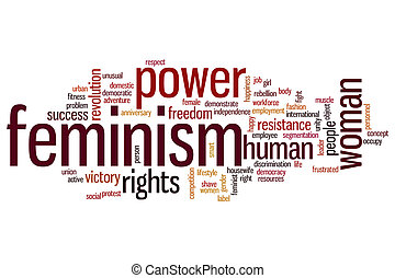 Feminism word cloud - Feminism concept word cloud background