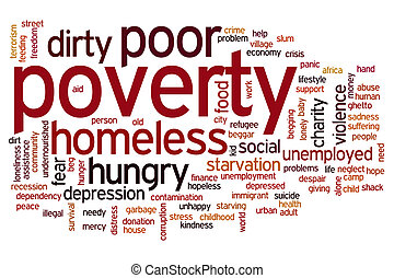 Poverty word cloud - Poverty concept word cloud background