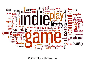 Indie game word cloud - Indie game concept word cloud...
