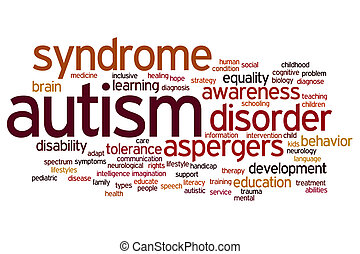 Autism word cloud - Autism concept word cloud background
