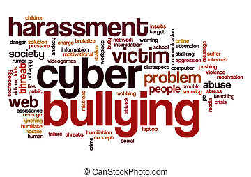 Cyber bullying word cloud - Cyber bullying concept word...