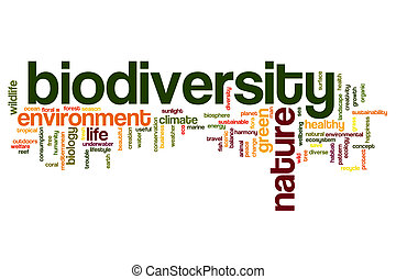 Biodiversity word cloud - Biodiversity concept word cloud...
