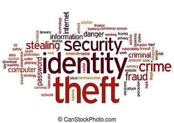 Identity theft word cloud - Identity theft concept word...