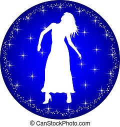 zodiac button virgo - a illustration of a zodiac button...