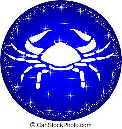 zodiaque, bouton, cancer