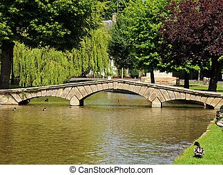River view, Bourton on the Water.