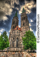 St. Sebaldus Church in Nuremberg. HDR image