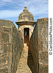 Sentry Box - a sentry guard box in a Spanish fort in Puerto...