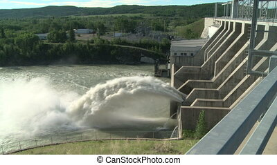 Hydro electric dam spillway - Spillway of the Ghost...