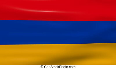Waving Armenia Flag, ready for seamless loop.