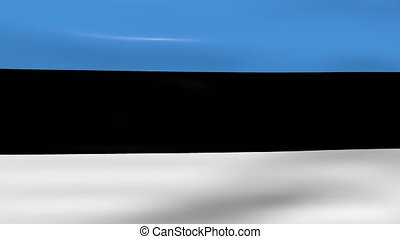 Waving Estonia Flag, ready for seamless loop
