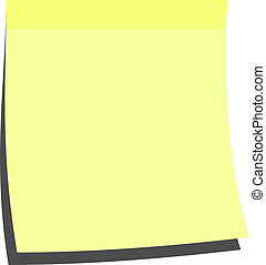 yellow memo stick - illustration of a blank memo stick