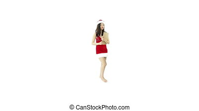 sexy santa claus isolated on white upset checklist - asian...