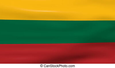 Waving Lithuania Flag, ready for seamless loop.
