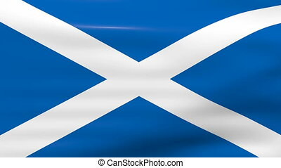 Waving Scotland Flag, ready for seamless loop