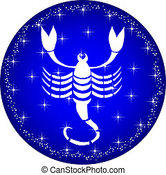 zodiac button scorpio - a illustration of a zodiac button...