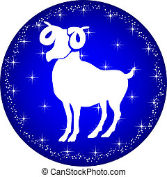 zodiac button aries - a illustration of a zodiac button...
