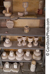 Stoneware - Handmade stoneware on the shelves available for...