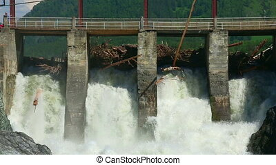 Chemal dam - View of Chemal dam, Altai Republic, Russia