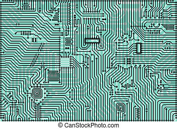 Hi-tech light green abstract industrial electronic background