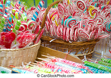 Colored lollipops - Colored lollipop bouquet sweet treats