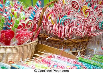 Colored lollipops - Colored lollipop bouquet sweet treats