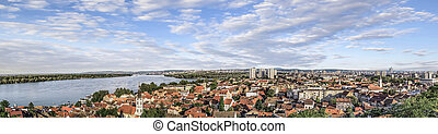 Zemun Panorama From Gardos Tower - Panoramic view on river...