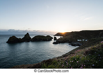 Kynance Cove on the southern tip of the cornish coast