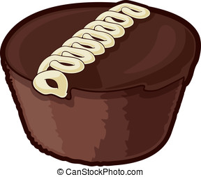 Snack Cake - Vector illustration of a cupcake snack cake...