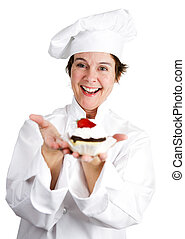 Pastry Chef with Tart