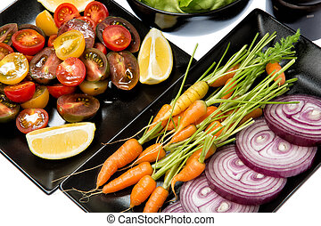 Vegetables - 5 a day - Various kinds vegetables are the...