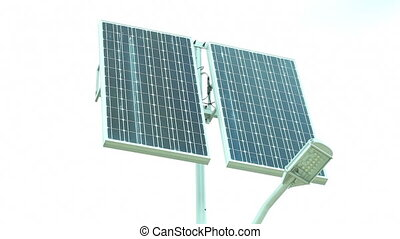 Solar panel Full HD - Alternative energy Solar panel - Stock...