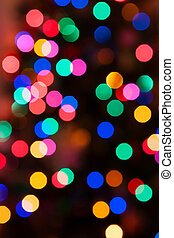 Glowing Christmas lights background in abstract image