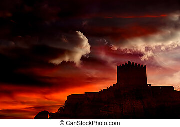castle - Castle of Sortelha in the mountains of portugal