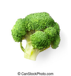Fresh raw broccoli on white background