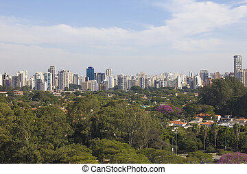Sao Paulo. Brazil. - Sao Paulo wealthy neighborhood. Brazil.
