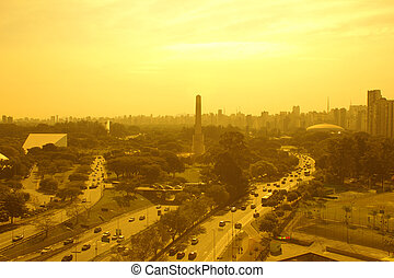 Sao Paulo Brazil - Sao Paulo obelisk and skyline