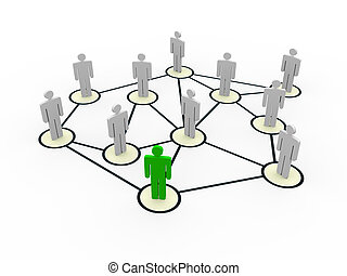 3d people social network