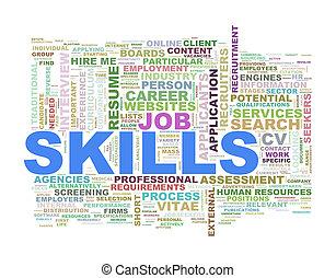 Skills wordcloud word tags - Illustration of wordcloud word...