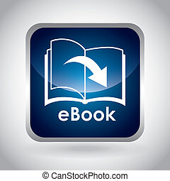 eBook design over gray background, vector illustration