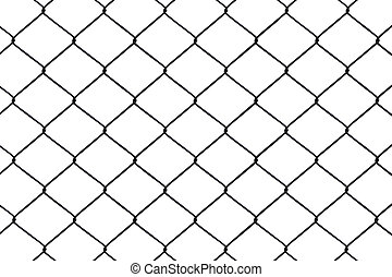 Chainlink fence seamless on a White background.