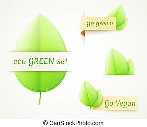 go green eco labels set