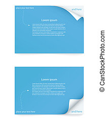 paper card with curled corner