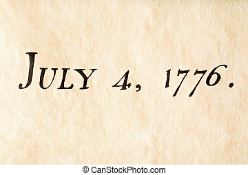 fourth of july 1776 - fourth of july - macro of Declaration...