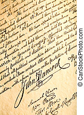 John Hancock on declaration of independence - John Hancock...