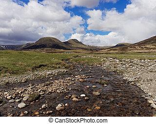 River Calder, Glen Banchor, Scotland west highlands in...