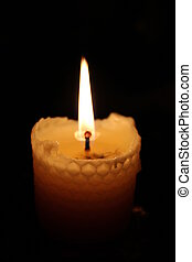 Beeswax Candle -   Yellow candle made from beeswax.