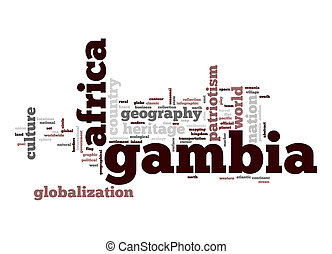 Gambia word cloud