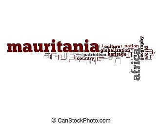 Mauritania, palabra, nube